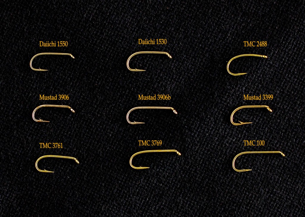 A Sampling of Hooks for Soft Hackled Flies